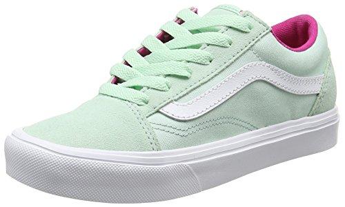 Vans Mädchen UY Old Skool Lite Sneakers Grün (Pop Bay/true White)