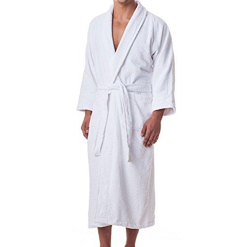 White Clothing Hood (eLuxurySupply Mens 100% Long Staple Cotton Terry Cloth Robe)