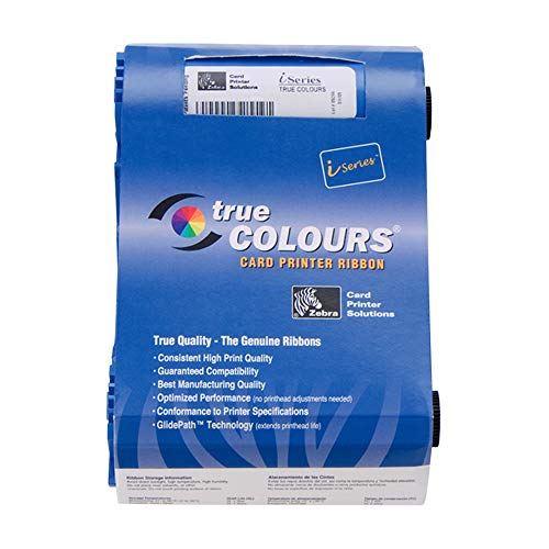 Zebra True Colours Ribbon Cartridge - YMCKO - Color Card Printer P100i