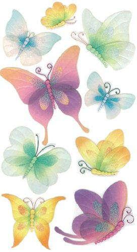 Jolee's Boutique Vellum Butterflies Stickers