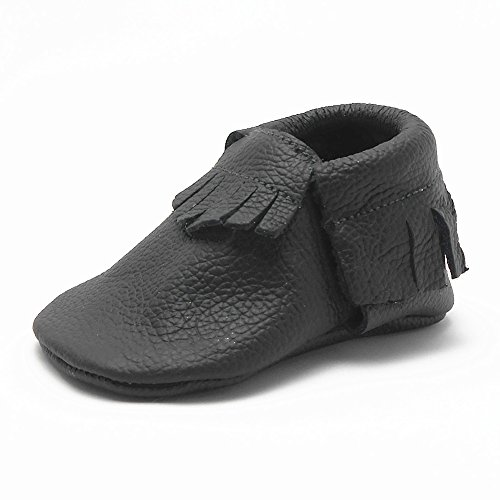 Sayoyo Baby Tassels Soft Sole Leather Infant Toddler Prewalker Shoes (dimgray ,0-6 months)