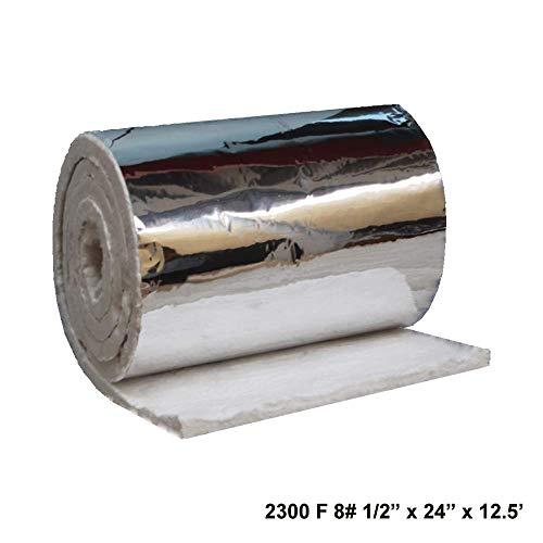 Aluminium Foil Faced Ceramic Fiber Blanket 8# Density 2300F 1/2