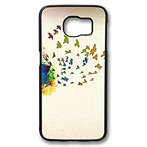 iCustomonline Birds Of Spring Back Cover Case For Samsung Galaxy S6 Black