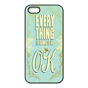 Qxhu everything's alright Protective Snap On Hard Plastic Case for Iphone5,5S