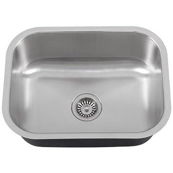 Phoenix PH 185 23u0026quot; Single Bowl 18 Gauge Stainless Steel Kitchen /