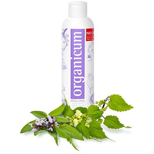 organicum Spülung - vegane Haarpflege ohne Silikone für natürlich seidenen Glanz und Geschmeidigkeit, 250 ml
