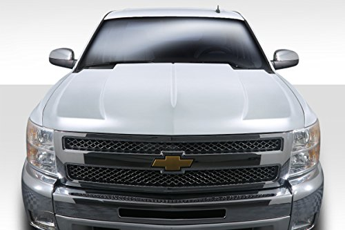 - Duraflex Replacement for 2007-2013 Chevrolet Silverado Cowl Hood - 1 Piece