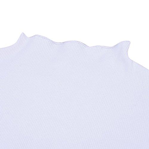 Split T Flare Plain Manches en Sleeve Femmes White Shirt pour Courtes Maille c tele rZftqrwU