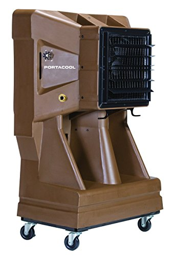 Portacool PACJS1600 Jet Stream 1600 Portable Evaporative Cooler with 1000 Square Foot Cooling Capacity, 4000 CFM, Sienna