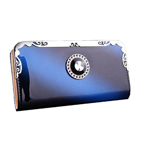 coromoser-women-ladies-multi-card-bit-graded-diamond-ribbon-clutch-wallet-blue