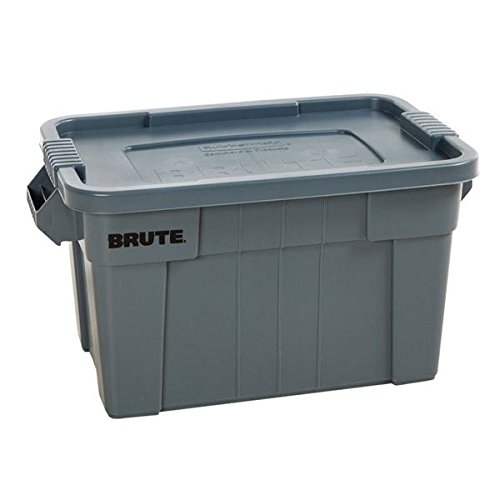 20 Gallon Brute Storage Tote, Made of Commercial Grade Material to Withstand Heavy-duty Use, NSF Approved, Stacks Securely for Efficient Use of Space, Gray. -
