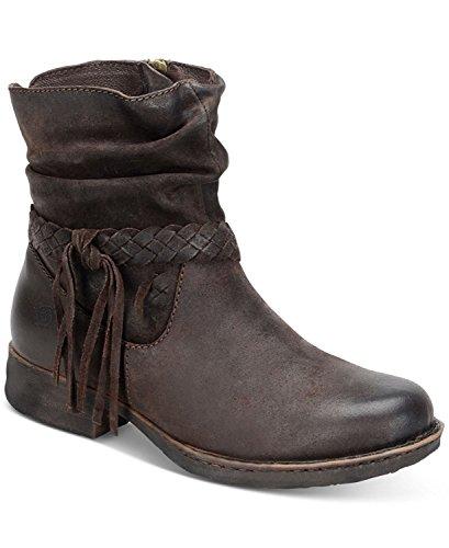 Born Abernath Tasseled Booties, Castagno, Size 6.5