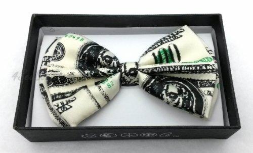 Color Tuxedo Classic Bow Tie, Cravat, Necktie, Neckwear Adjustable Men's Fashion Bowtie - Money by Coool (Image #1)