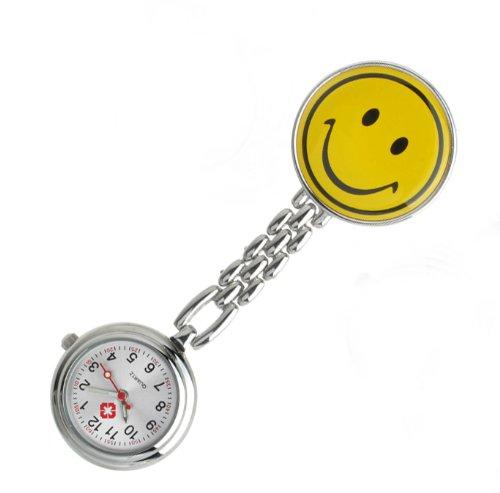 18 opinioni per Collection&Joy Orologio da infermiere con sorriso-Giallo (faccina sorridente,