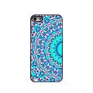 iPhone 5S Case, WKell Blue Semicircle Design Aluminium Hard Case for iPhone 5/5S