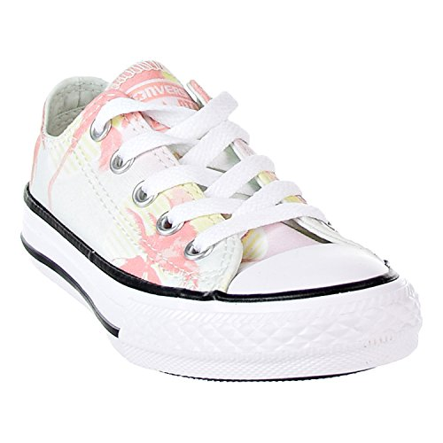 c8aba5f4ea97 Converse Girls' Chuck Taylor All Star Palm Trees Low Top Sneaker Barely  Green/Pale
