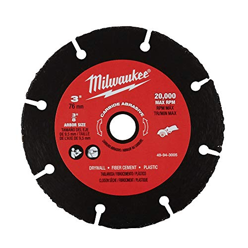 Milwaukee 49-94-3005 3 Inch Carbide Abrasive Blade 3' Cut Off Wheel Tool