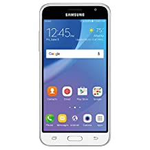 Samsung Galaxy J3 AMP Prime (J320AZ) - White, 16GB, 1.5GB RAM, 5.0-inch LCD, Unlocked, Android 6.0, Non-Retail Packaging - English, French, Spanish, Chinese, Italian, Dutch Languages only