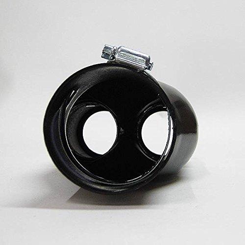 Universel Sport Double Embout d/échappement chrom/é Pot d/échappement en acier inoxydable v/éhicule voiture