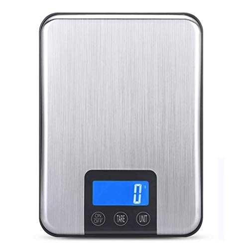 MZP Touch-Sensitive Kitchen Scales, Multifunction 4 Units For Conversion Weigh Up To 15kg/0.1g Precise Weighing For Slim Design Easy To Use ()
