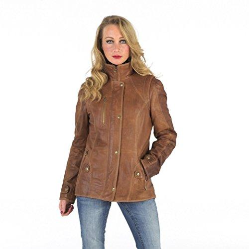 World Of Leather Lambskin Genuine Leather Jacket Short Blazer Casual Tan (XXL)