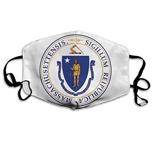 SyjTZmopre Massachusetts Flag Mouth Mask Unisex Printed Fashion Face Anti-dust Masks]()