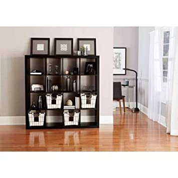 Better Homes and Gardens BH15-084-199-14 Wood Composite 16-Cube Organizer, Solid Black Color