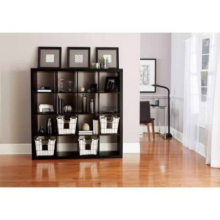 Better Homes and Gardens BH15-084-199-14 Wood Composite 16-Cube Organizer, Solid Black Color by Generic