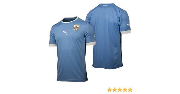 Puma - Camiseta de fútbol sala para hombre, tamaño XXL, color blanco - silver lake azul - uruguay: Amazon.es: Ropa y accesorios