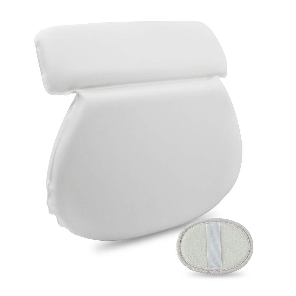 Bath Pillow Shoulder&Neck Support   Include a Bath Sponge. … (2-panel)