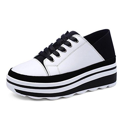 Frühling und herbst Student Verdicken sie plateauschuhen Freizeitschuhe Autumn shoes Weiß