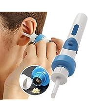 SHIJING Azul Cómodo Limpiador de Cera para el oído Aspirador inalámbrico eléctrico Limpiador de Oreja para el oído Herramienta de Limpieza removedor Seguro