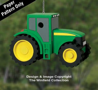 (Tractor Birdhouse Woodworking Plans)