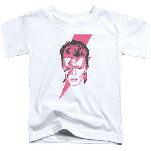 David Bowie Aladdin Sane Toddler T-Shirt Small White ()
