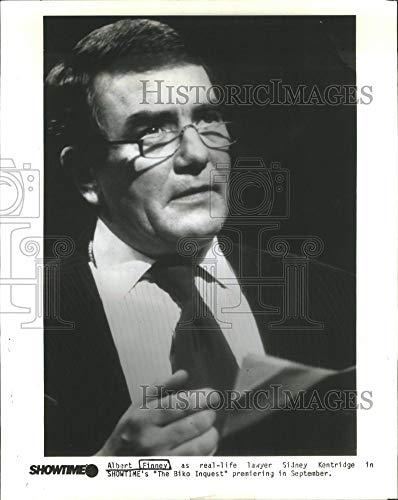 Historic Images - 1990 Vintage Press Photo Albert Finney English Film & Television Actor- RSA65573