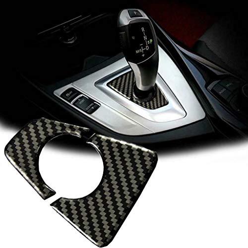 (Xotic Tech Carbon Fiber Console Gear Shift Knob Decor Cover Trim for BMW 3 Series F30 F34)