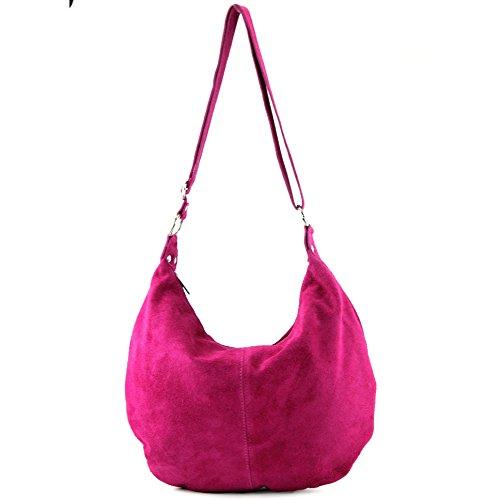 modamoda de - Made in Italy - Bolso al hombro para mujer ver descripción Rosa
