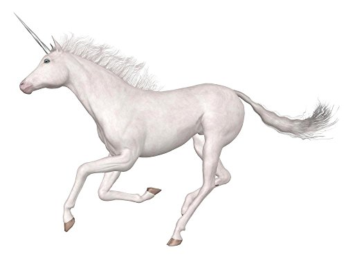 Galloping Magical Unicorn Wall Decal by Wallmonkeys Peel and Stick Animal Graphics WM410030