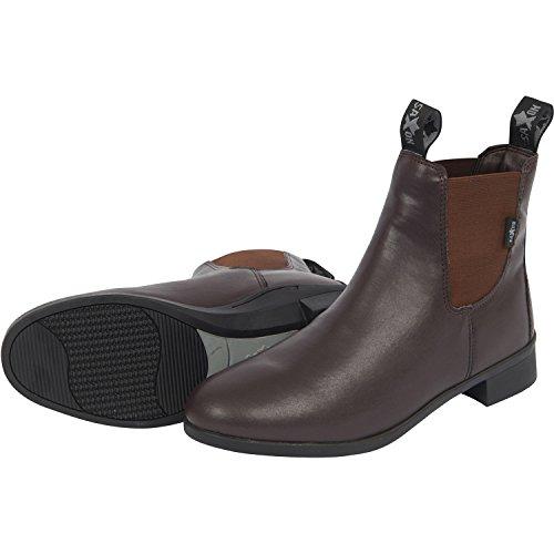 nbsp;– adultos nbsp;marrón Saxon Jodhpur equitación syntovia botas 5p1qXp