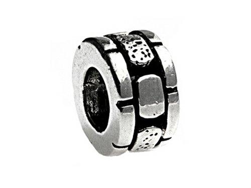 SilveRado Sterling Silver Brick Spacer Bead / Charm