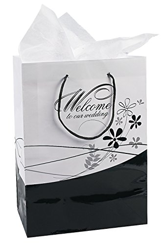 Fun Express Medium Welcome to Our Wedding Gift Bags Set, 1 D
