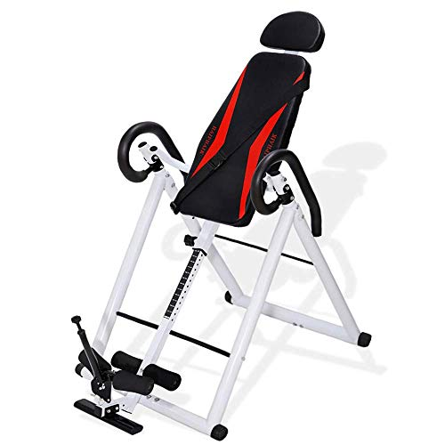 HAIPHAIK Adjustable Inversion Therapy Table – Used to Relieve Back Pain and Neck Pain Withstand 350LB Weight