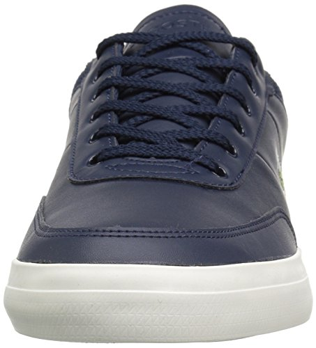Lacoste Mænds Domstol-master-sneakers Nvy / Off Hvid Læder Gjnpi4