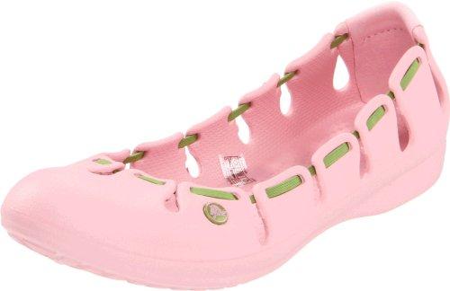Womens Crocs Ballet Petal Crocs Pink Green Springi Parrot Womens Flat TPBpgwq5Hx