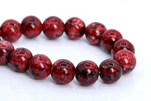 (8MM Natural Blood Red Jade Beads Grade AAA Round Gemstone Loose Beads 7.5