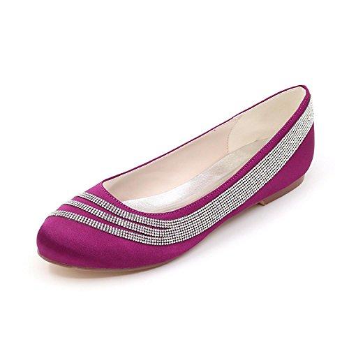 Multicolores Femmes Printemps tc Confort Plates Mariage Été Verges Purple L Satin Stretch Automne Grandes xvwHHnY