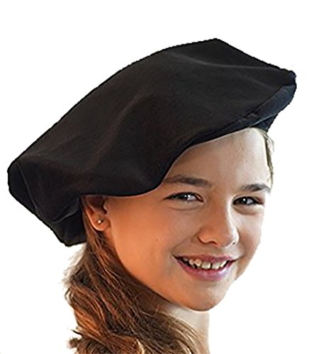 Fancy Dress-World Book Day-Edwardian-Victorian TUDOR STYLE MUFFIN HAT - 3 Colours To Choose From (BLACK)