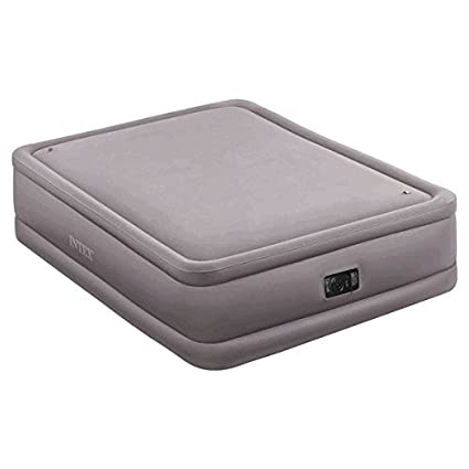 Amazon Com Intex Queen Raised Air Bed Foam Top Mattress With Build