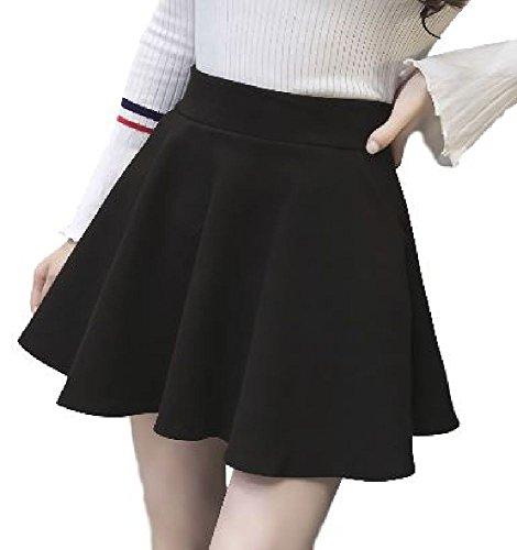 KM&Co.. Womens Flared Skater Mini Skirt (Large, Black)