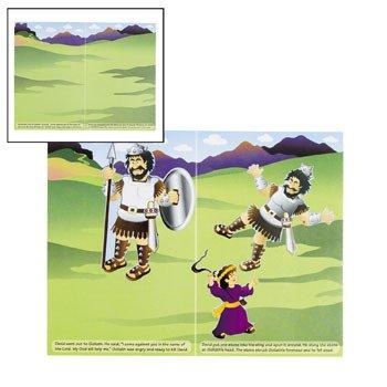 Make-A-David & Goliath Sticker Scenes - Vacation Bible School & (David Goliath Bags)